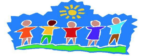 cartoon of children holding hands