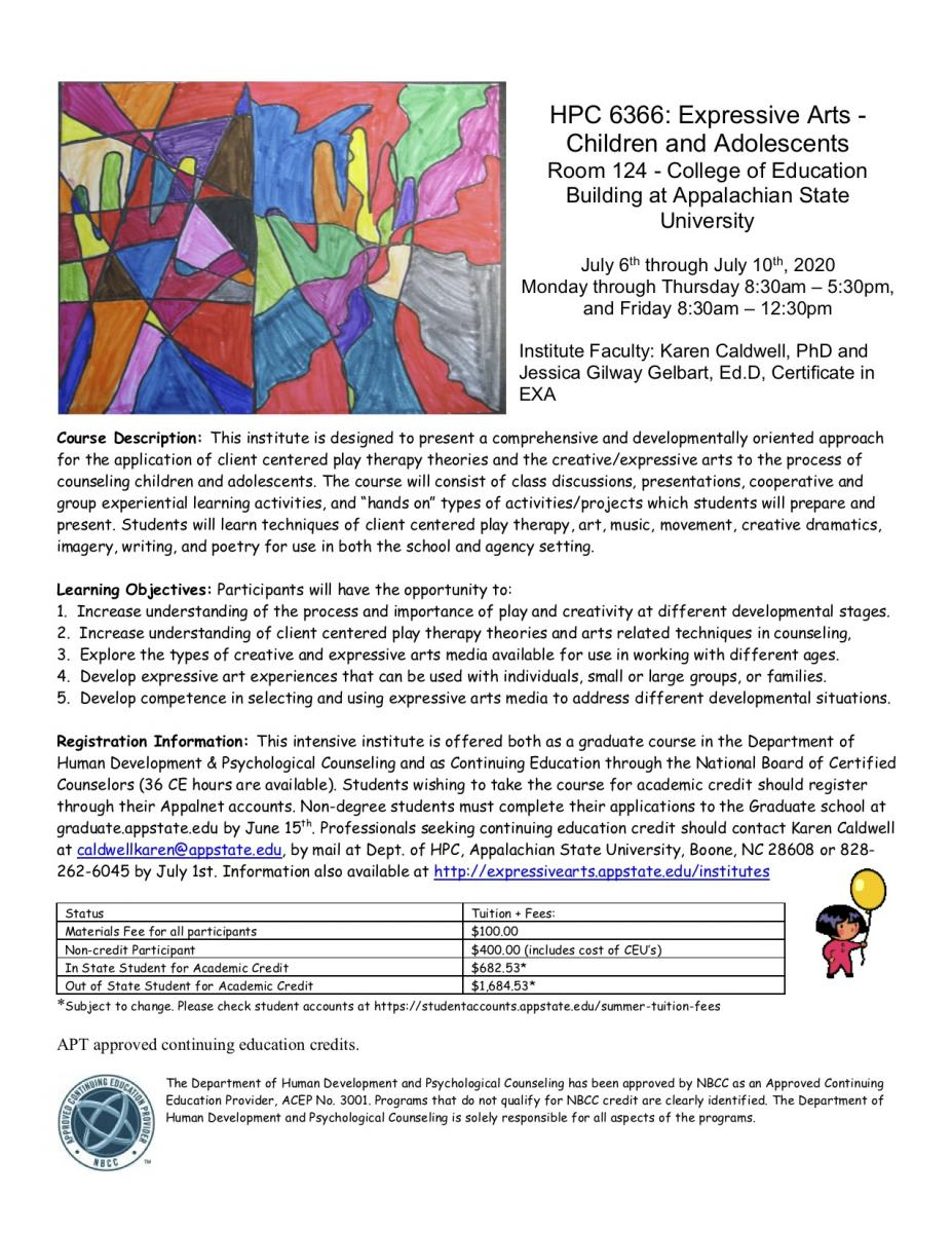 Children & Adolescents Institute Flyer